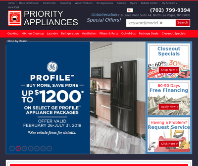 Priority Appliances Las Vegas,NV Wall Ovens Range Cooktop Microwave Oven
