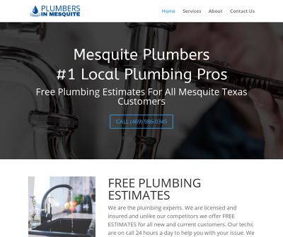 Plumbing In Mesquite,TX Water Heater Service Gas Leak Detection Drain Cleaning