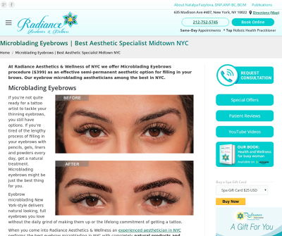 Radiance Aesthetics & Wellness New York,NY Chemical Peel Microneedling Skin Rejuvenation