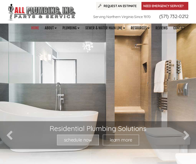 All Plumbing, Inc. Arlington,VA Residential Plumbing Commercial Plumbing Water Heaters