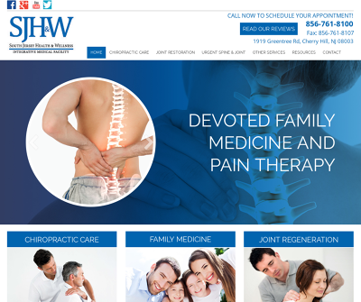 South Jersey Health & Wellness Center Cherry Hill,NJ Joint Restoration Chiropractic Care