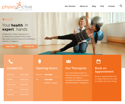 PhysioActive Orchard Branch, Singapore Physiotherapy Sports Physiotherapy