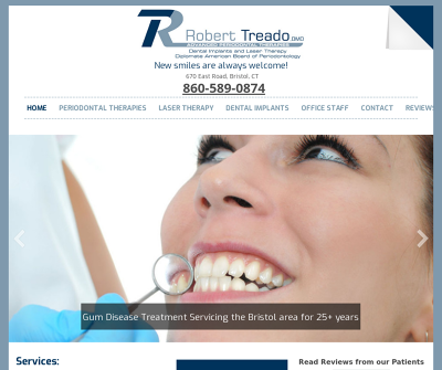 Robert F. Treado, DMD Advanced Periodontal Therapies, Dental Implants and Laser Theapy