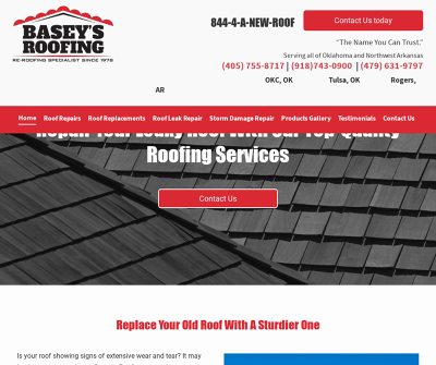 Basey''s Roofing Re-Roofing Specialist Since 1978