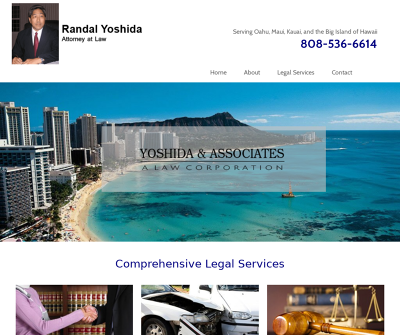 Yoshida & Associates, A Law Corp  Honolulu,HI Personal Injury Auto Accidents Wrongful Death