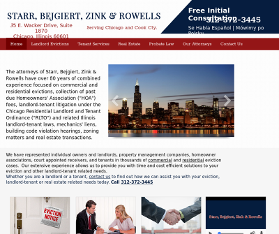 Starr, Bejgiert, Zink & Rowells Illinois Lease Preparation Landlord Tenant Law Tenant Eviction