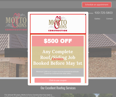 Motto and Sons Construction Serving Neenah, WI and the Surrounding Areas  residential roofing or commercial roofing
