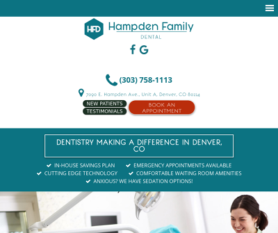 Hampden Family Dental Denver,CO Emergency Dentistry General Dentistry Restorative Dentistry