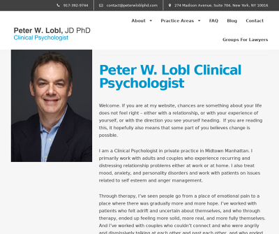 Counseling for Lawyers -  Dr. Peter Lobl, PhD, JD New York,NY Personality Disorders