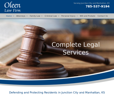 Oleen Law Firm  junction City,KS Divorce Child Custody Sex Crimes Violent Crimes