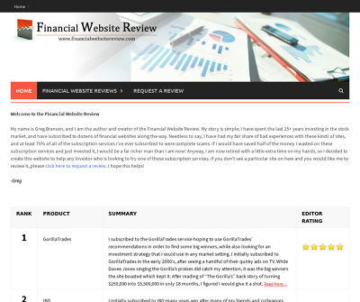 Financial Website Review