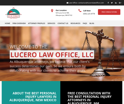 The Lucero Law Office, LLC Albuquerque, NM Car Accident Slip & Fall Medical Malpractice