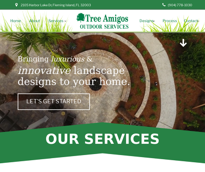 Florida Tree Amigos Outdoor Services Residential Landscape Design Fertilization Irrigation
