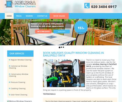 Melissa''s Window Cleaning Earlsfield United Kingdom Regular Window Cleaning Commercial Window Cleaning