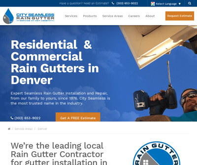 City Seamless Rain Gutter Colorado Gutter Installation Gutter Repair Gutter Cleaning