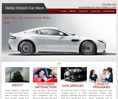 Valley Stream Car Wash & Auto Detail Service Center NY Hot Wax Tire Shine Lava Foam Bath