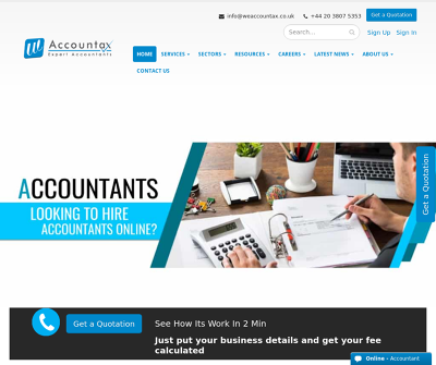 Weaccountax Limited London,UK Annual Accounts Annual Return Filing Business Consulting Services