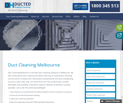 Ducted Heating Cleaning |Melbourne, Australia | Duct Cleaners Certified with NADCA