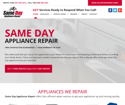 Same Day Appliance Repair | North York/Toronto, Canada | Dishwasher Oven Repair