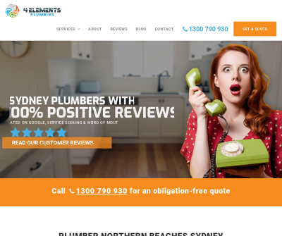 4 Elements Plumbing - Plumber Manly Sydney CCTV Drain Inspections Toilet Repairs