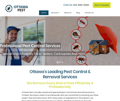Ottawa Pest Ottawa Canada Cockroach Extermination Bed Bug Extermination Ant Control & Removal