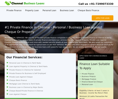 Best Private Finance in Chennai Easy Loan against Cheque Or Property