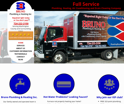 Bruno Plumbing & Heating Inc Washington,PA Air Conditioning, Drain Cleaning, Heating