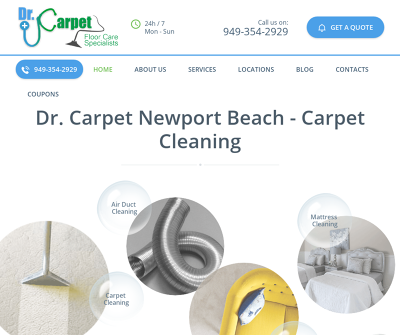 Dr. Carpet Newport Beach, California Wood Floor Cleaning Upholstery Cleaning Tile and Grout Cleaning