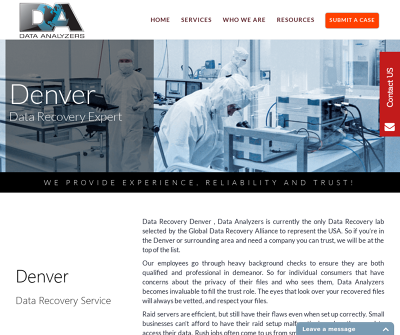 Data Analyzers Data Recovery Denver, CO Hard Drive Recovery Mobile Recovery USB Thumb Drives