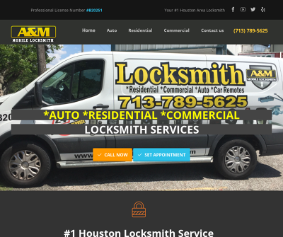 A & M Mobile Locksmith Houston, Texas Lockouts & Key Extraction High-security Keys