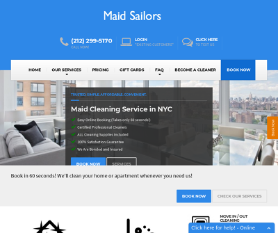 Maid Sailors Cleaning Service New York, New York Regular Cleaning Deep Cleaning