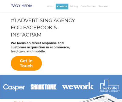 Voy Media New York,NY Facebook Ads Instagram Ads Retargeting Ecommerce Ads