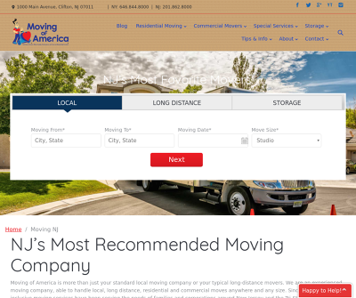 Moving of America - Best NJ Movers | Moving and Storage New Jersey
