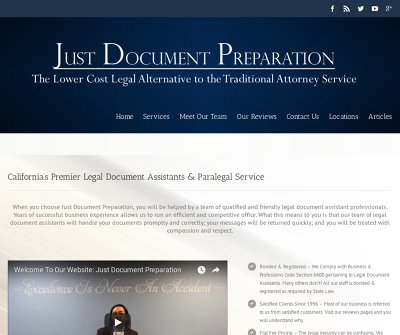 Just Document Preparation Riverside, CA Adoptions Advance HealthCare Directives Affidavits