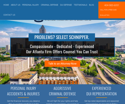 Schnipper Law, P. C. Atlanta,GA Personal Injury Criminal Defense DUI Defense