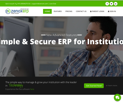 ZenoxERP TimeTable Management Payment Gateway Integration Examination Management