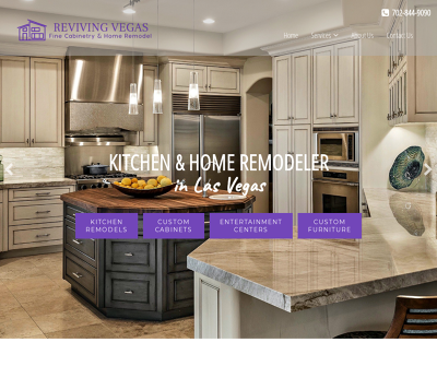 Reviving Vegas Las Vegas,NV Home Remodeling Kitchen Remodels Custom Kitchen Cabinets