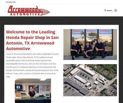 Arrowwood Automotive San Antonio,TX Acura Repair Honda Repair