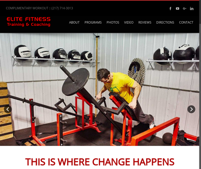Elite Fitness Training and Coaching Champaign,IL Personal Training Program