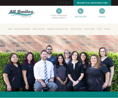 All Smiles Dental Care Phoenix, AZ Cosmetic Dentistry Veneers Implants Crowns & Bridges