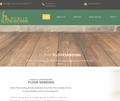 Floor Sanding Dublin,Ireland Finishes Stains Gap Filling Floor Repair Dustless Sanding