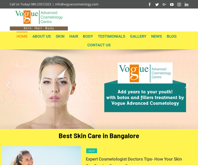 Vogue Advanced Cosmetology Center Bangalore,India Chemical Peel Acne Treatment
