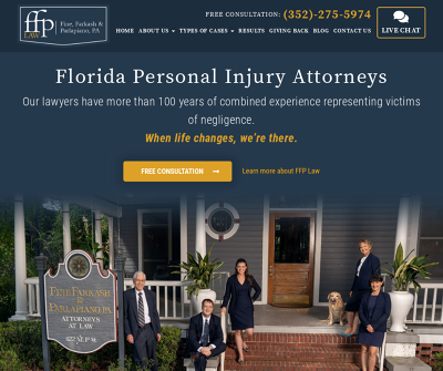Fine, Farkash and Parlapiano, P.A. Gainesville,FL Car Accident Dog Bite Personal Injury