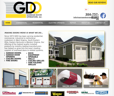 Garage Door Operators Inc Huntington,WV Overhead Sectional Doors Rolling Service Doors
