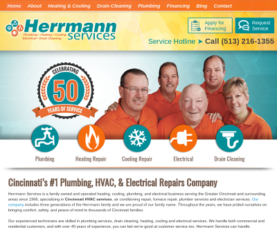 Herrmann Services Cincinnati,OH Heating & Cooling Drain Cleaning Plumbing