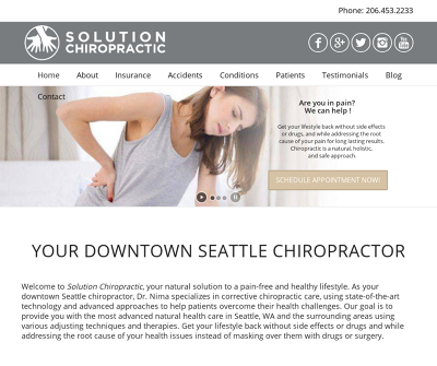 Solution Chiropractic Seattle, WA Allergies Anxiety Arm Pain Arthritis Asthma