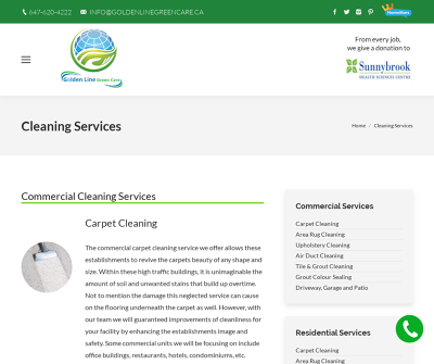Cleaning Services in GTA Toronto, Canada Carpet Cleaning Area Rug Cleaning