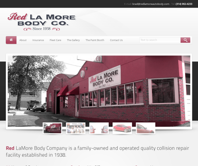 Red LaMore Body Co. Webster Groves,MO Fleet Care Waterborne Paint Paintless Dent Removal