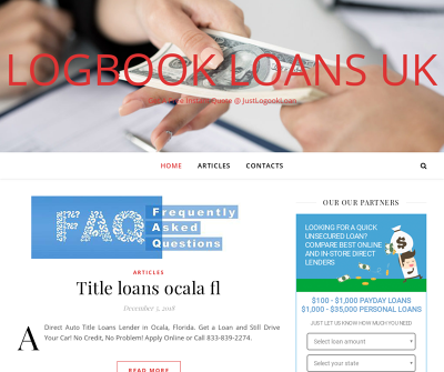 Direct Auto Title Loans Lender in Ocala, Florida