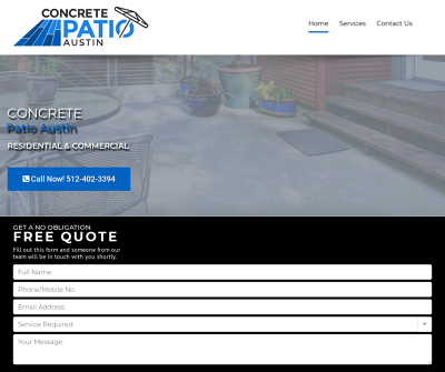 Concrete Patio Contractor Austin